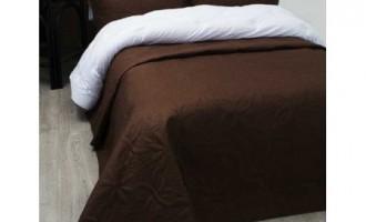 Стёганое покрывало на кровать Lotus Broadway Коричневое