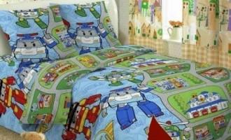 Детское постельное бельё Robocar Poli TAG поплин