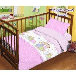 Детское постельное бельё в кроватку для новорожденных TAG поплин Сладких снов
