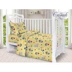 Детское постельное бельё в кроватку для новорожденных TAG поплин Слоник