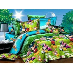 Детское постельное бельё Дисней Микки Маус ранфорс