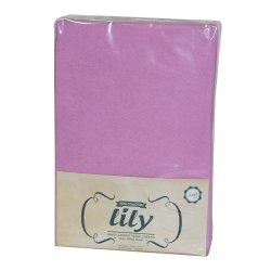 Простынь на резинке махровая Acelya Lily фиолетовая 160х200