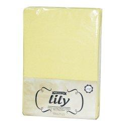 Простынь на резинке махровая Acelya Lily желтая 160х200