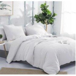 Фланелевое постельное бельё однотонное белое Almira Mix