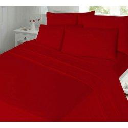 Фланелевое постельное бельё однотонное красное Almira Mix