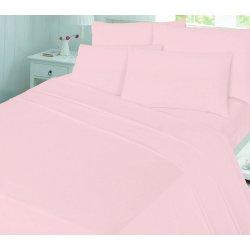 Фланелевое постельное бельё однотонное светло-розовое Almira Mix