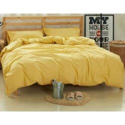 Фланелевое постельное бельё однотонное жёлтое Almira Mix