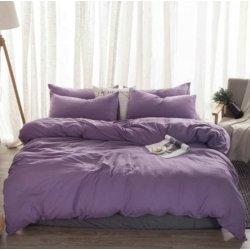Фланелевое постельное белье однотонное Almira Mix Фиалка