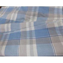 Постельное белье Almira Mix фланель Premium Super Lux Клетка голубая