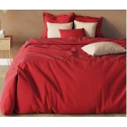 Однотонное постельное белье Almira Mix Премиум сатин красный