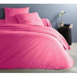 Однотонное постельное белье Almira Mix Премиум сатин Барби розовое