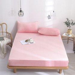 Простынь на резинке фланелевая Almira Mix розовая