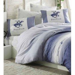 Постельное бельё Beverly Hills Polo Club ранфорс 030 Blue голубое