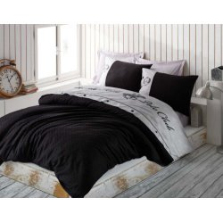 Элитное постельное бельё Beverly Hills Polo Club сатин 105 Black евро чёрное