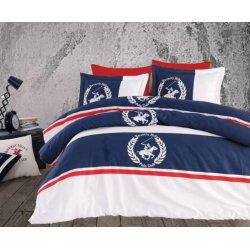 Элитное постельное бельё Beverly Hills Polo Club сатин 101 Dark Blue евро