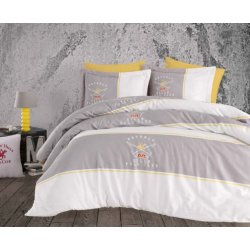 Элитное постельное бельё Beverly Hills Polo Club сатин 102 Grey евро