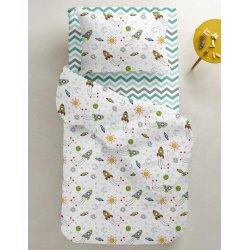 Детское постельное белье Cosas Rockets Zigzag Mint Grey