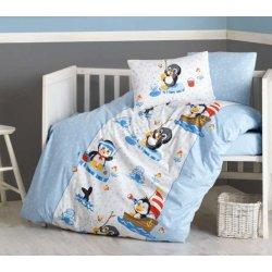 Детское постельное бельё в кроватку Cotton Box Penguen Mavi