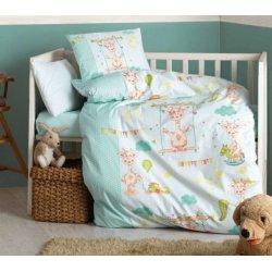 Детское постельное бельё в кроватку Cotton Box Zurafa Yesil