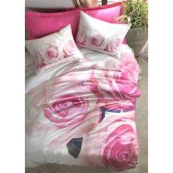 Постельное бельё 3D Cotton Box ранфорс Floral Florence евро розовое