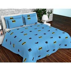 Детское постельное белье Бэтмен голубое