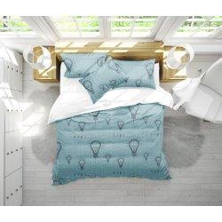 Детское постельное белье Идея голубое