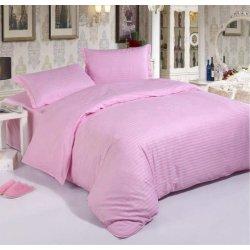 Постельное бельё Cotton Twill Страйп розовый
