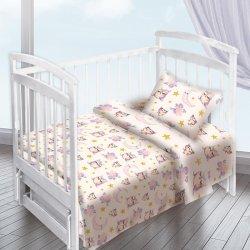 Детское постельное белье Совы компаньон акварель