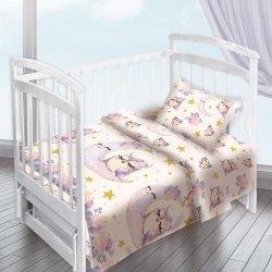 Детское постельное белье Совы акварель