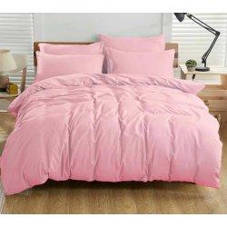Однотонное розовое постельное бельё Cotton Twill