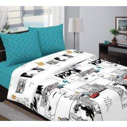 Подростковое постельное белье Аниме бирюзовое
