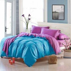 Двухцветное постельное белье Cotton Twill ранфорс Бирюза и сирень