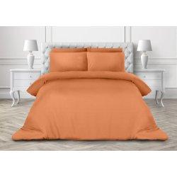 Однотонное постельное белье Cotton Twill ранфорс абрикос