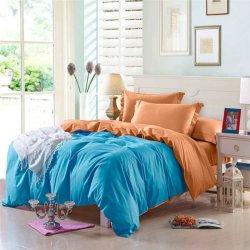 Двухцветное постельное белье Cotton Twill ранфорс Бирюза с абрикосом