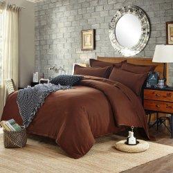 Однотонное постельное белье Cotton Twill ранфорс коричневый