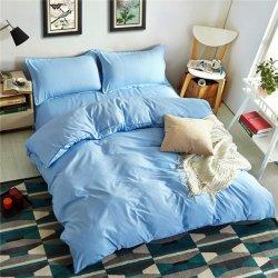 Однотонное постельное белье Cotton Twill ранфорс голубой