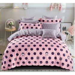 Детское постельное белье Cotton Twill сатин Горохи на розовом
