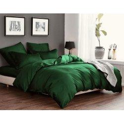 Однотонное постельное бельё Cotton Twill сатин Изумруд