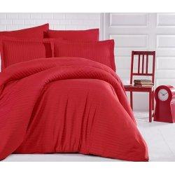 Постельное белье Cotton Twill Страйп сатин Красный