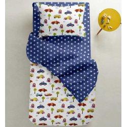 Детское постельное белье Cosas Cars звезды на синем