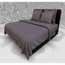 Элитное постельное белье Almira Mix Satin Stripe Графит
