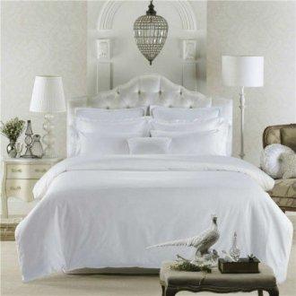 Белое постельное бельё Премиум сатин