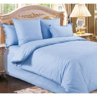 Однотонное постельное белье Markus Satin Blue