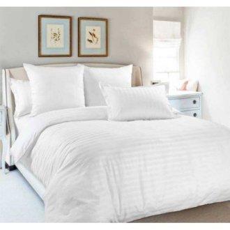 Белое постельное белье Markus Satin Stripe