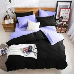 Подростковое постельное белье Black-Lilac