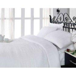 Белое постельное белье Cotton Box сатин с вышивкой For You Beyaz евро