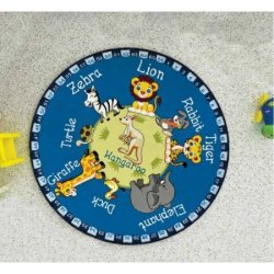 Детский коврик «Animal Planet» круглый