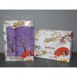 Набор хлопковых полотенец  «Сакура»