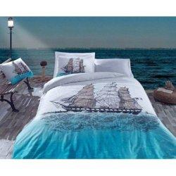 Комплект постельного белья Cotton Box ранфорс Ship Mavi евро