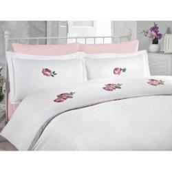 Евро комплект постельного белья «Rose Pembe»